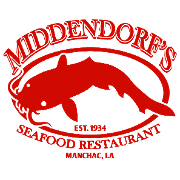 This is the restaurant logo for Middendorf's Manchac