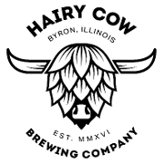 This is the restaurant logo for Hairy Cow Brewing Company