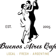 This is the restaurant logo for Buenos Aires Café
