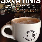 This is the restaurant logo for Javatinis Espresso - SB