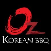 This is the restaurant logo for Oz Korean BBQ
