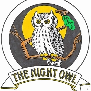 This is the restaurant logo for The Night Owl Sports Pub & Eatery