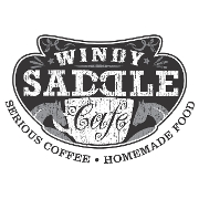 This is the restaurant logo for Windy Saddle Cafe