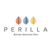 This is the restaurant logo for PERILLA korean american fare