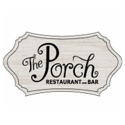 This is the restaurant logo for The Porch Restaurant & Bar
