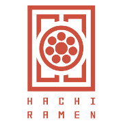 This is the restaurant logo for Hachi Ramen