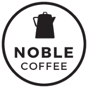 This is the restaurant logo for Noble Coffee & Tea