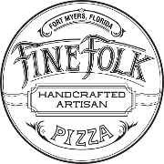 This is the restaurant logo for Fine Folk Pizza