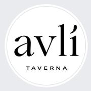 This is the restaurant logo for Avli Taverna