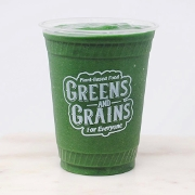 This is the restaurant logo for Greens and Grains