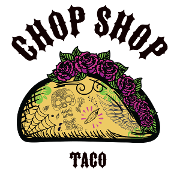 This is the restaurant logo for Chop Shop Taco
