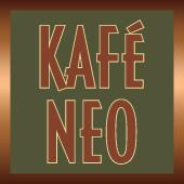 This is the restaurant logo for Kafé Neo Woodstone Taverna