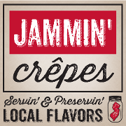 This is the restaurant logo for Jammin' Crepes