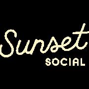 This is the restaurant logo for Sunset Social