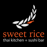 This is the restaurant logo for Sweet Rice