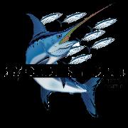This is the restaurant logo for Swordfish Grill & Tiki Bar