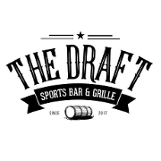 This is the restaurant logo for The Draft Sports Bar & Grille