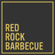 This is the restaurant logo for Red Rock Barbecue