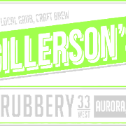 This is the restaurant logo for Gillerson's Grubbery