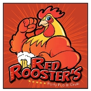 This is the restaurant logo for Red Rooster's