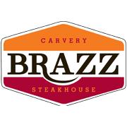 This is the restaurant logo for Brazz Carvery & Brazilian Steakhouse