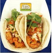 This is the restaurant logo for Casa Taco