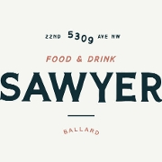 This is the restaurant logo for Sawyer