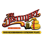 This is the restaurant logo for The Distillery