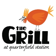 This is the restaurant logo for The Grill at Quarterfield Station