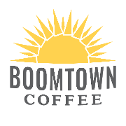 This is the restaurant logo for Boomtown Coffee