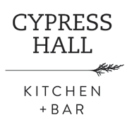 This is the restaurant logo for Cypress Hall Kitchen + Bar