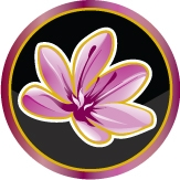 This is the restaurant logo for Saffron