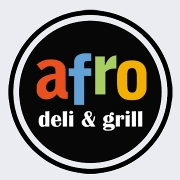 This is the restaurant logo for Afro Deli & Grill