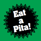 This is the restaurant logo for Pita Gourmet