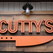 This is the restaurant logo for Cutty's