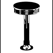 This is the restaurant logo for The Diner