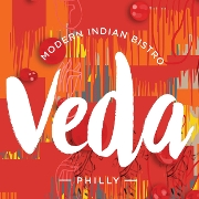 This is the restaurant logo for Veda - Modern Indian Bistro