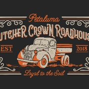 This is the restaurant logo for Butcher Crown Roadhouse