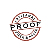 This is the restaurant logo for Proof Artisanal Pizza & Pasta