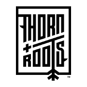 This is the restaurant logo for THORN + ROOTS