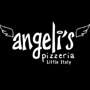 This is the restaurant logo for Angeli's Pizzeria