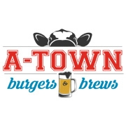 This is the restaurant logo for A-Town Burgers & Brews