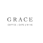 This is the restaurant logo for Grace Coffee, Eats & Wine