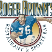 This is the restaurant logo for Roger Browns Restaurant and Sports Bar