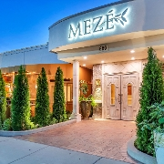 This is the restaurant logo for Meze