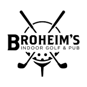 This is the restaurant logo for Broheim's Indoor Golf & Pub