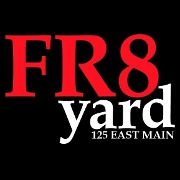 This is the restaurant logo for FR8yard Spartanburg
