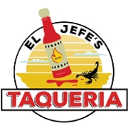 This is the restaurant logo for El Jefe's Taqueria