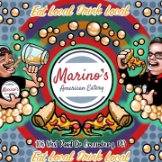 This is the restaurant logo for Marino's American Eatery