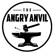 This is the restaurant logo for The Angry Anvil